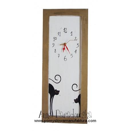 Zegar z Kotami Kocury Podłużne